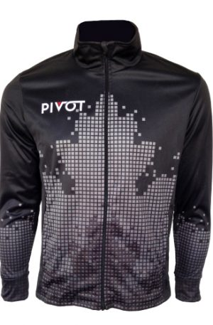 Curling Jacket - Pivot Pixel Dark Front